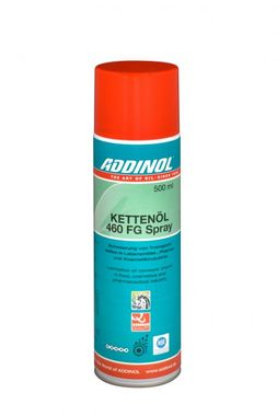 AÉROSOL DE GRAISSAGE POUR CHAINES ADDINOL Chain Oil 460 FG Spray  - 500 ml