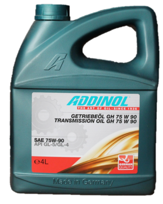 HUILE DE TRANSMISSION AUTOMOBILE ADDINOL TRANSMISSION OIL GH 75W90 - Bidon 4 L